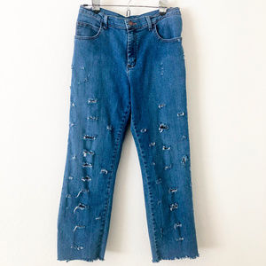 Lee Distressed Boyfriend Jeans Size 12